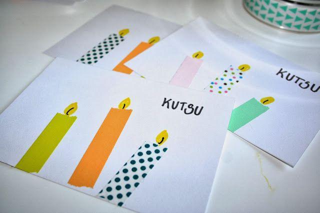 Kinder basteln ihre eigene Einladungskarte DIY