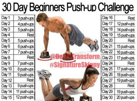 30 day beginners push-up challenge