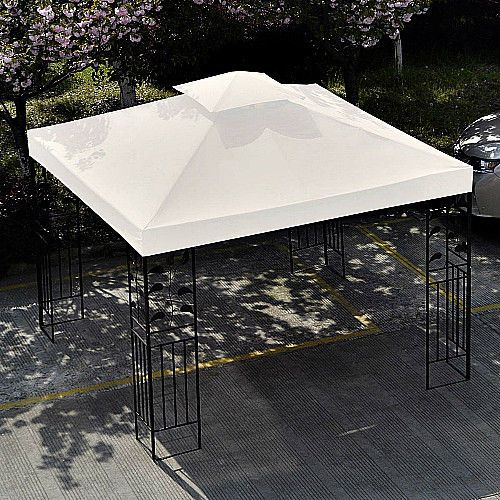 Gazebo Replacement Canopy Beige 2 Tier 10' x 10' Top Cover Outdoor Yard Shade  #SmartDealsMarket