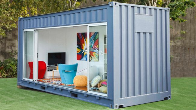 Royal Wolf launches 'Outdoor Room' lifestyle range. Specially modified shipping containers have been transformed into residential retreats, including home offices, spare bedrooms and chill out zones. #storage