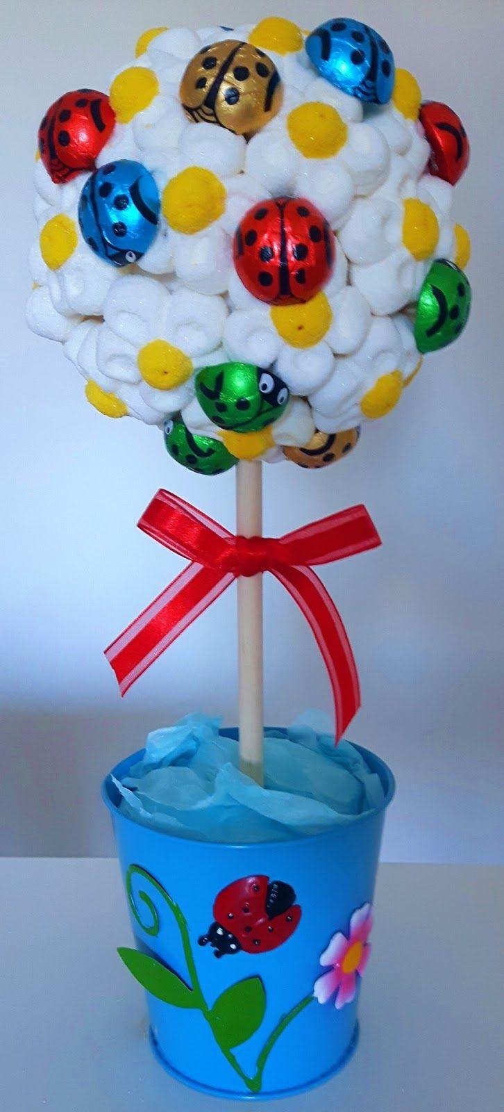 Más Recetas en https://lomejordelaweb.es/ | Sweet April: Arbol de nubes y mariquitas de chocolate. 25
