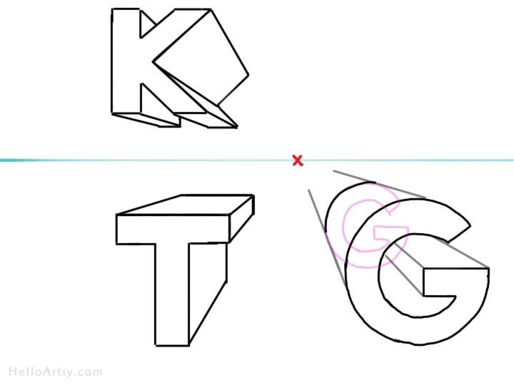 how to draw 3d letters how to draw letters in perspective 3 d letter drawing 22278 | 3177179365790758e7b123560ce7c4ed
