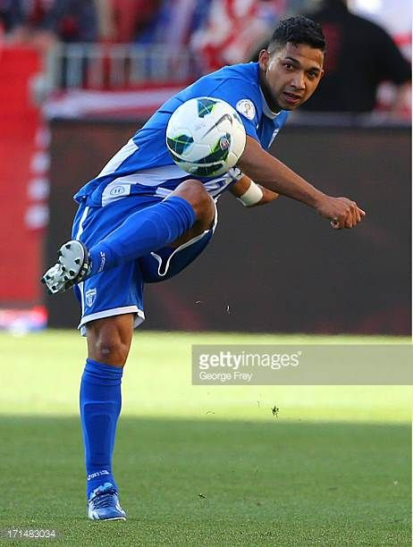 Emilio Izaguirre of Honduras kicks the ball down field during a game against the United States during the first half of an World Cup Qualifying March...