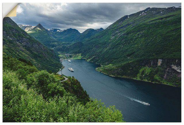 Premium Wandfolie »R. Ködder: Blick auf den Geirangerfjord«