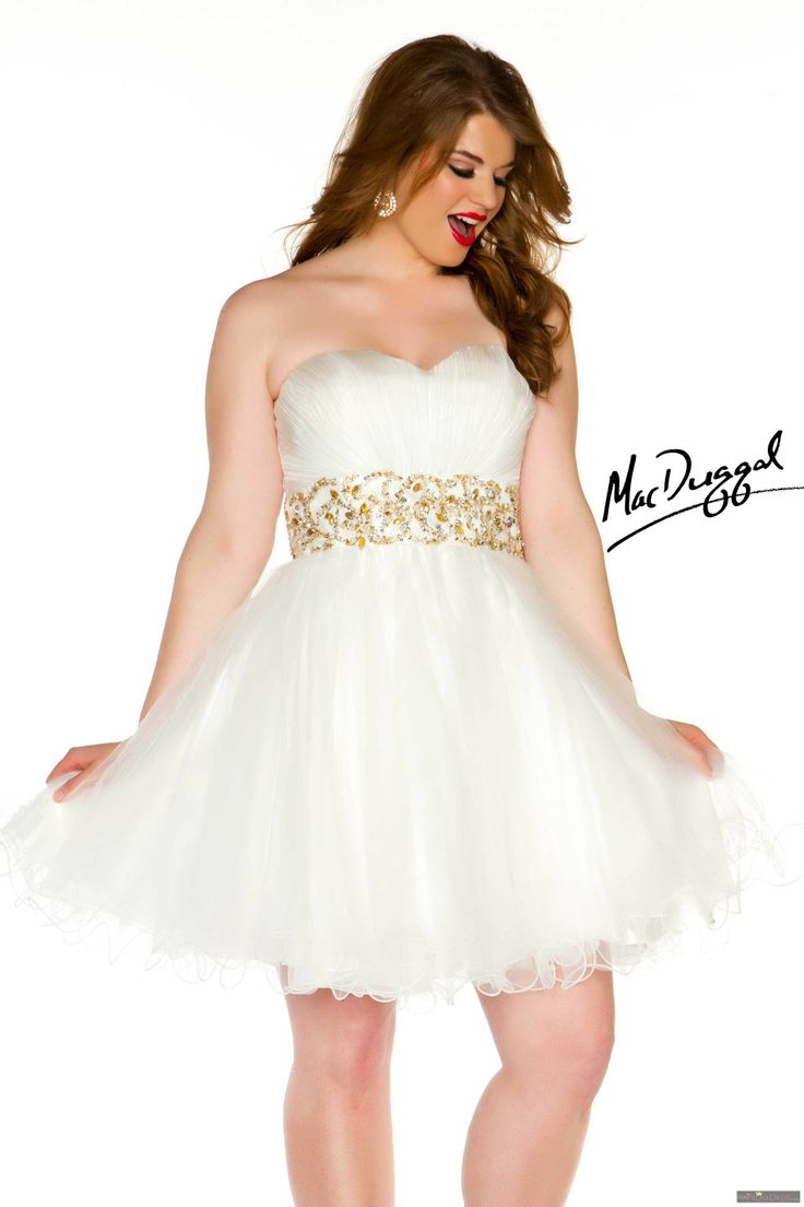 Gold Plus Size High Low Prom Dresses 2014