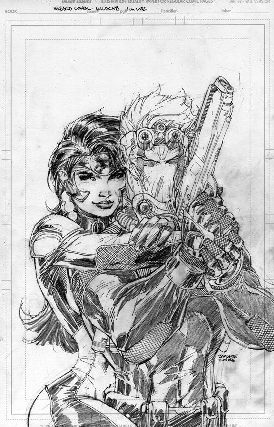 Wizard Magazine #180 Pencil Covers and Splashes by Jim Lee