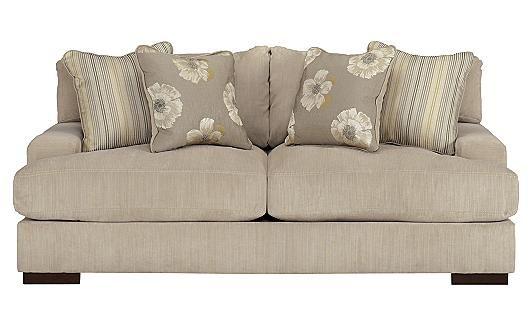 Pia Linen Sofa #Contemporary #Ashley Furniture #Living Room