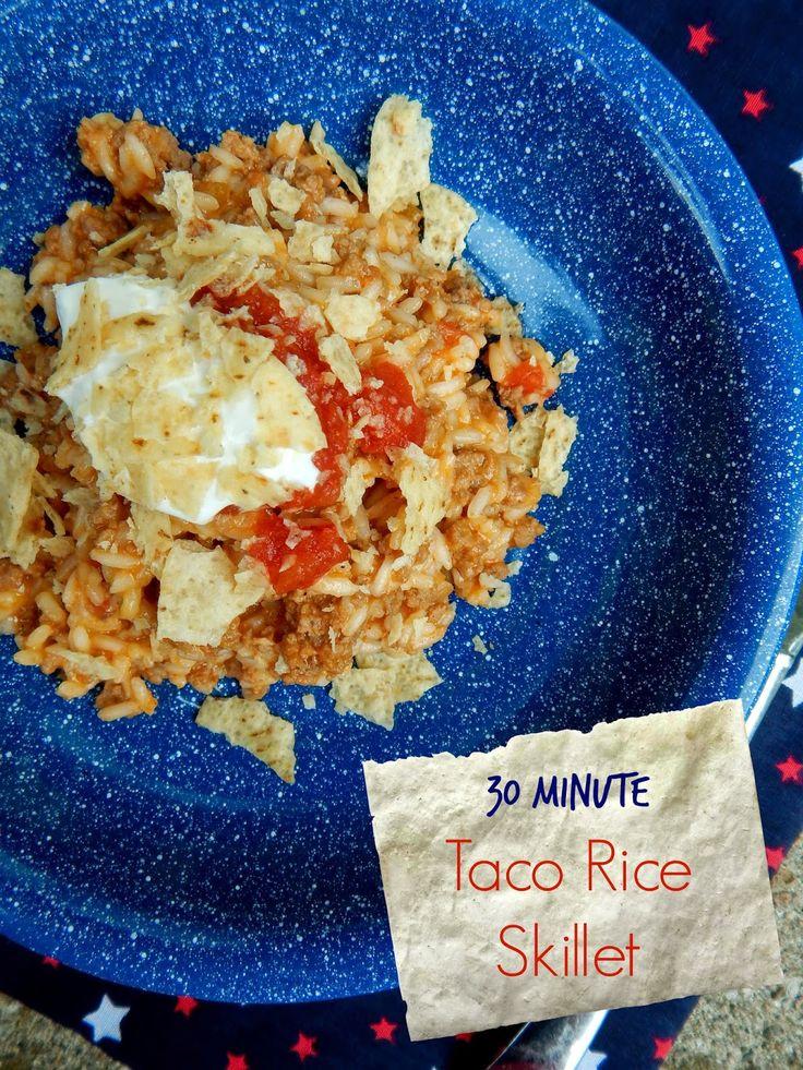30 Minute Taco Rice Skillet