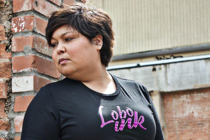"Lobo Ink ""Lupus Purple"" chest logo"