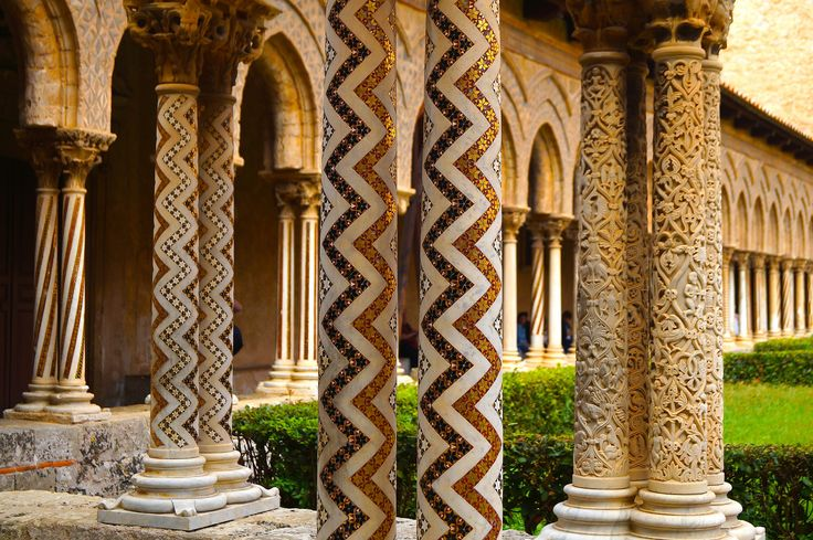 Day 2  - The cloister of the abbey of Monreale, Palemo.