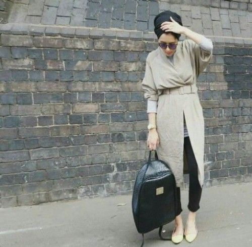 beige hijab style outfit, Hijab trends from the street http://www.justtrendygirls.com/hijab-trends-from-the-street/