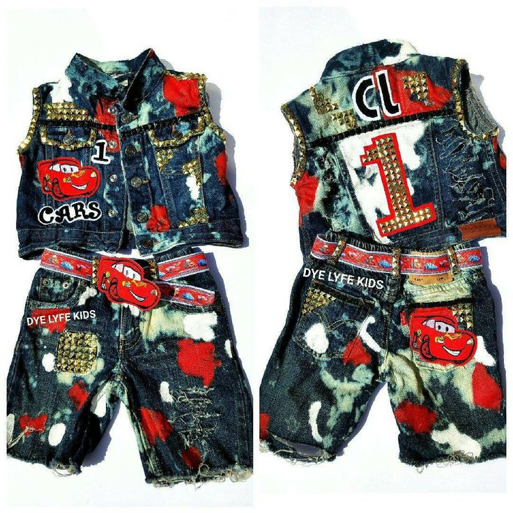 CARS Confetti custom jacket, vest, shorts, belt, 1st birthday, disney, boys outfit, distressed, hand painted, baby boy by DYELYFEkids on Etsy https://www.etsy.com/listing/465187579/cars-confetti-custom-jacket-vest-shorts