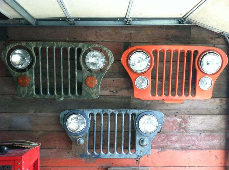 Pin By Windy Box On Jeepin Jeep Grill Garage Decor Jeep