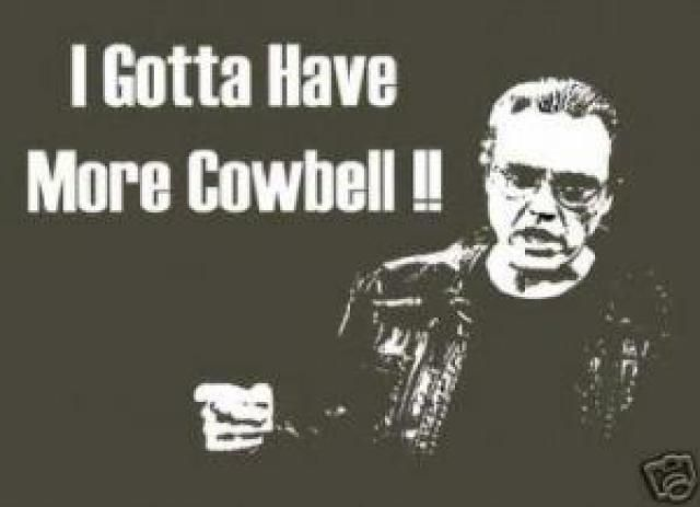 More Cowbell  Christopher Walken immortalized the expression 'more cowbell' on Saturday Night Live. Today, 'more cowbell' is a daily expression of humor. This particular meme won't reach you by email forwards, but you can certainly expect the expression 'more cowbell' to occur in daily conversation with the modern generation.
