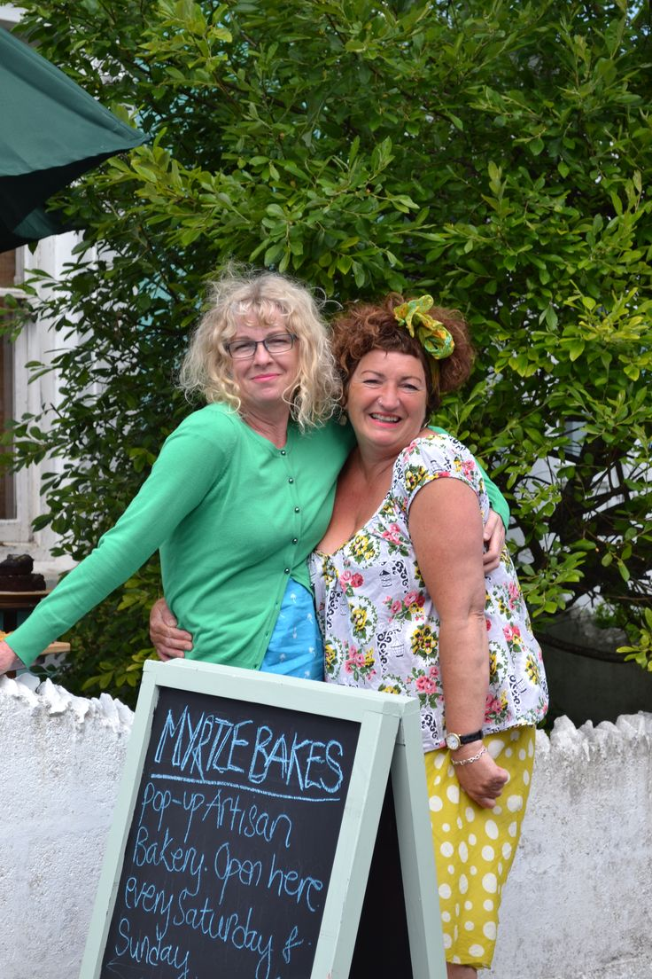 The beautiful brains/bakers behind Myrtle Bakes, Ruth Cicale and Tracy Rasburn.  #myrtlebakes