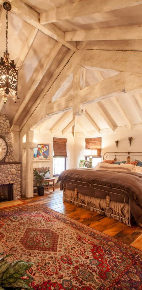 151 best rustic bedrooms images on pinterest rustic for Beautiful rustic bedrooms