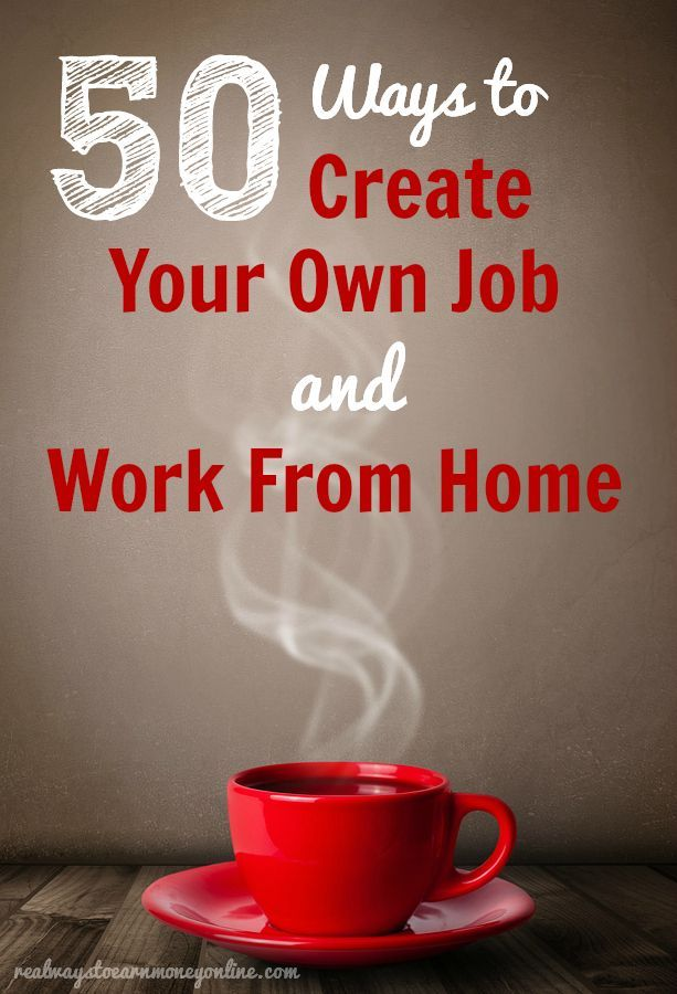 Finding a work at home job is not always easy, so sometimes we have to think outside the box. If you can't or don't want to get a job working for someone else from home, consider working for yourself. If you can provide a service that you know someone else needs, there is potential for you to make money, period. Starting your own business from home isn't necessarily going to be a cake walk.