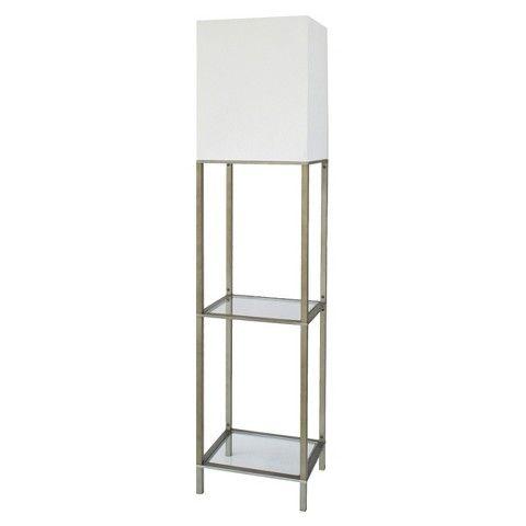 glass shelves floor lamps and lamps on pinterest. Black Bedroom Furniture Sets. Home Design Ideas