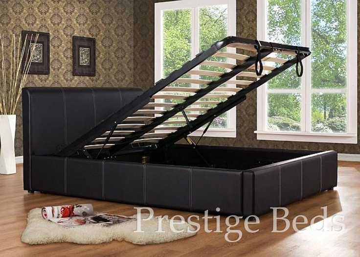 Bed frame with storage underneath? NICE.