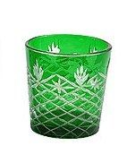 Dark Green Cut Glass Votive- All Occasions Event Rental