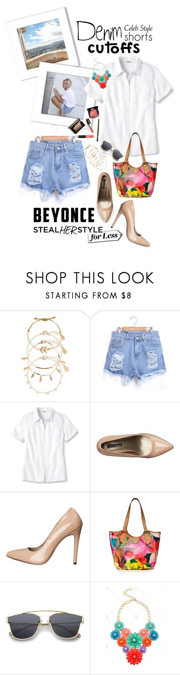 """""""The Final Cut: Denim Shorts"""" by shortyluv718 ❤ liked on Polyvore featuring Accessorize, L.L.Bean, Michael Antonio, Rosetti, Chanel, Beyonce, jeanshorts, cutoffs and contestentry"""