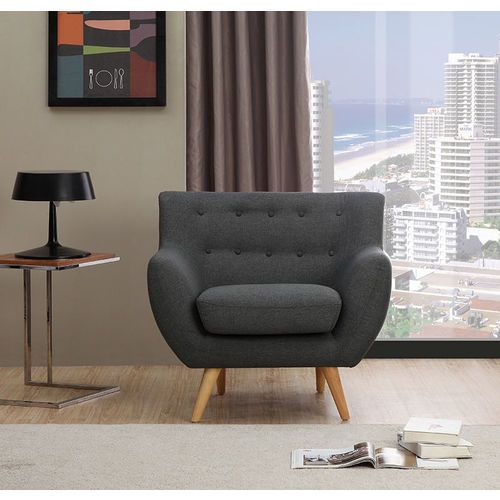 Sixties Armchair - Dark Grey