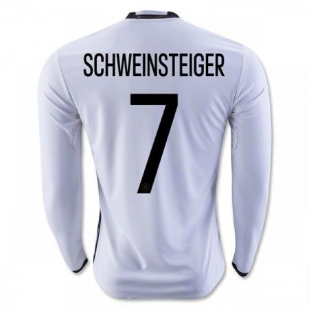 Tyskland 2016 Schweinsteiger 7 Hjemmedrakt Langermet.  http://www.fotballteam.com/tyskland-2016-schweinsteiger-7-hjemmedrakt-langermet.  #fotballdrakter
