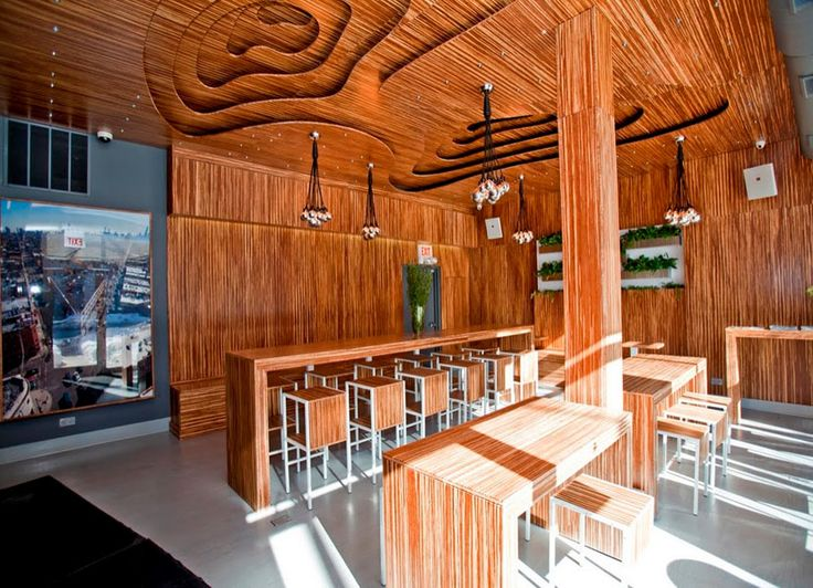 cafe with marbled bamboo plywood interior beautiful idea for home decor as well