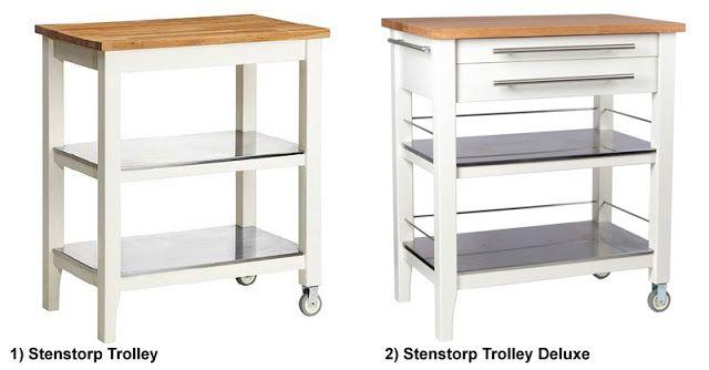 FÖRHÖJA Kitchen cart, birch | Kitchen carts, Kitchen trolley and ...
