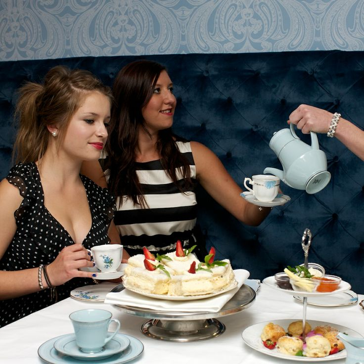 Tea and cakes served at The Tea House.  Great ladies afternoon idea.  Make it extra special and get your frock on!