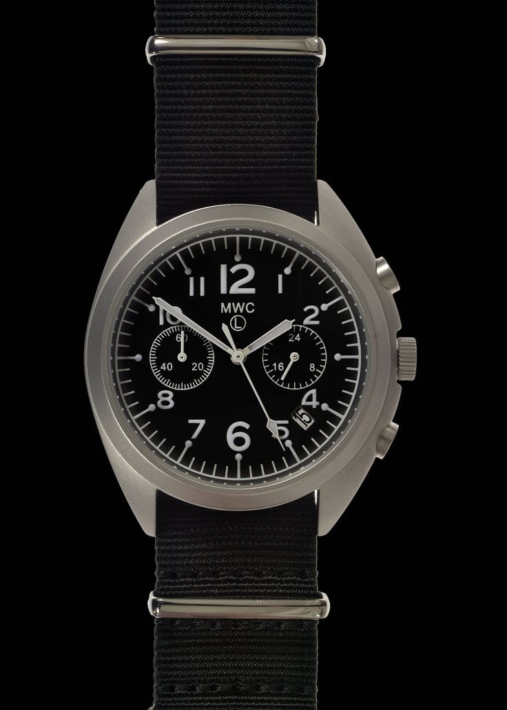 MWC NATO Pattern Stainless Steel Hybrid Military Pilots Chronograph – MWC (Europe)
