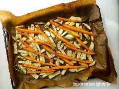 patatas fritas y zanahoria al horno