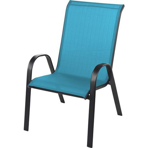 Mosaic Oversize Sling Stacking Chair Outdoor Chairs