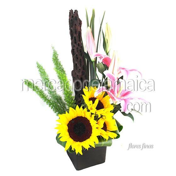 Mejores 34 im genes de arreglos florales de girasoles en for Plantas decorativas artificiales df