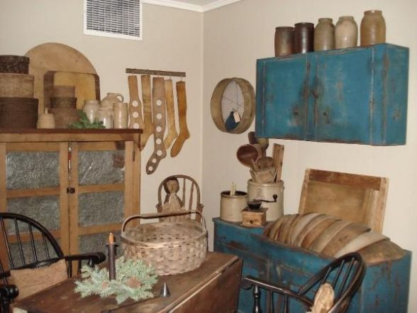 Primitive Dining Room, Early 1800s Primitive Dining Room, Dining Rooms Design