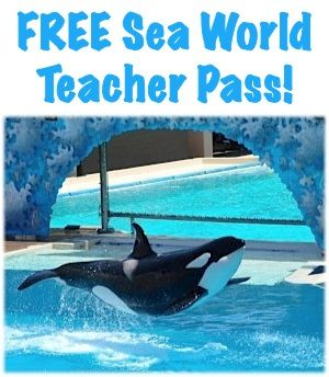 School Teachers in FL, CA or TX, sign up now to get a FREE Sea World Teacher Pass for 2013!