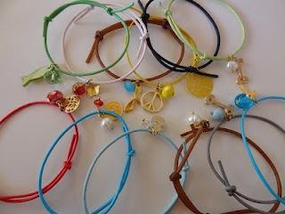 silicon charm bracelets