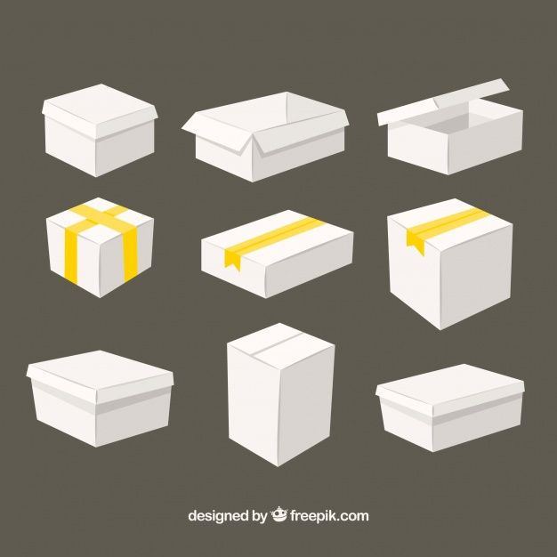 Download Download White Boxes Collection To Shipment For Free Box Icon White Box Stationery Mockup