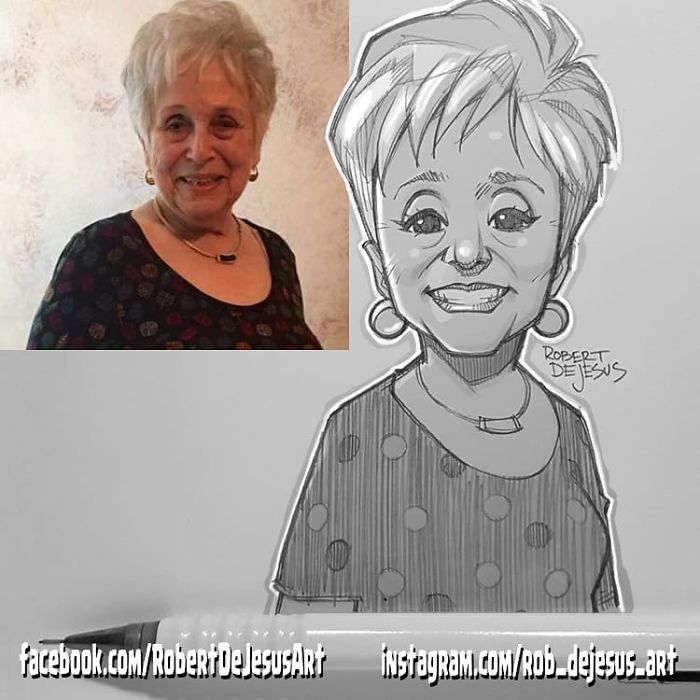 This Illustrator Turns Ordinary People Into Cartoons New Pics Caricature Sketch Photo To Cartoon Portrait Cartoon