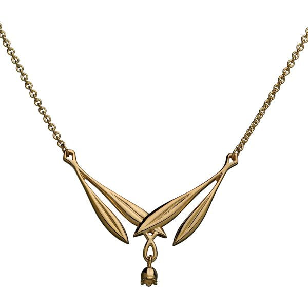LILY OF THE VALLEY NECKLACE  Designer: Tony Granholm, material: 14 carat gold or bronze or silver