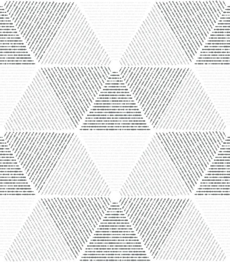 25 melhores ideias sobre papel de parede geometrico no - Papel de pared gris ...