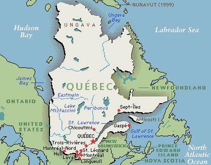 Quebec Map: Google map of Quebec, Canada