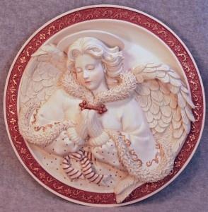 Sarah's Angels Guardian Angel 3D plate.