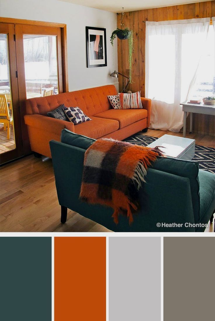 10 Stylish Green Color Combinations And Photos Shutterfly Burnt Orange Living Room Living Room Orange Room Color Combination