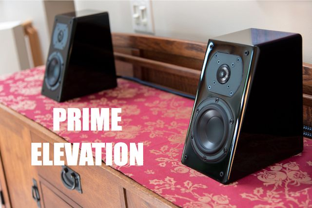 SVS Sound Prime Elevation Speakers with the multi-angle wall bracket ...