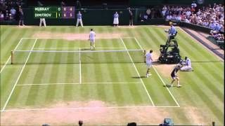 Murray was not in his best day, and Dimitrov take the chance to get into the SF  Highlights made by me!  (Highlights HD) Grigor Dimitrov Vs. Andy Murray - QF Wimbledon 2014