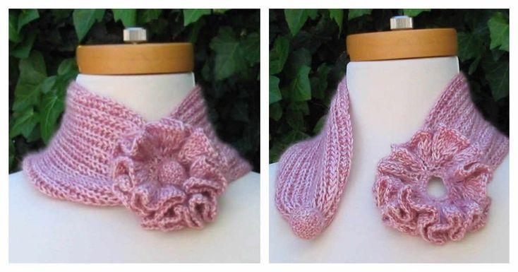 Tutorial >> DIY Crochet Flower Scarf