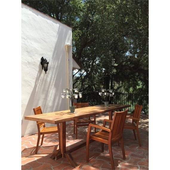 Rustic Walnut Outdoor Dining Table By LAmakes On Etsy