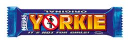 Yorkie Bar | Nestlé UK (Originally produced by Rowtree of York (who Nestles of Switzerland took over).
