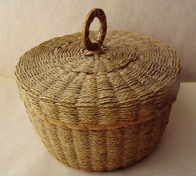 Antique Native American Penobscot Indian Basket with Lid Wonderful | eBay